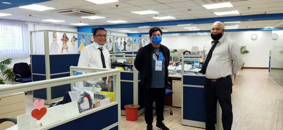 EMSI & KJCM (part of Epsilon Group) donate masks to the Philippine Overseas Employment Administration (POEA)