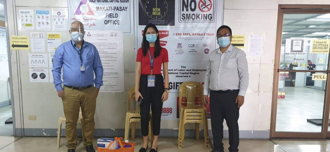 EMSI & KJCM (part of Epsilon Group) donate masks to the Department of Labor and Employment (DOLE) – Manila